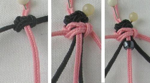 Двухцветная цепочка на пяти нитях