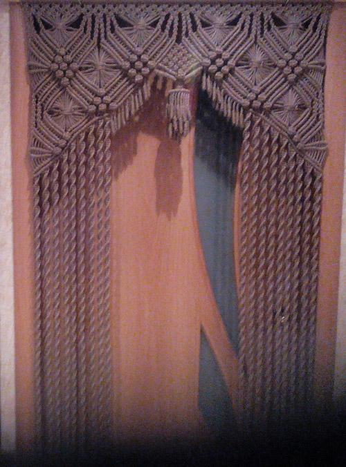 Схема плетения шторы на окно макраме