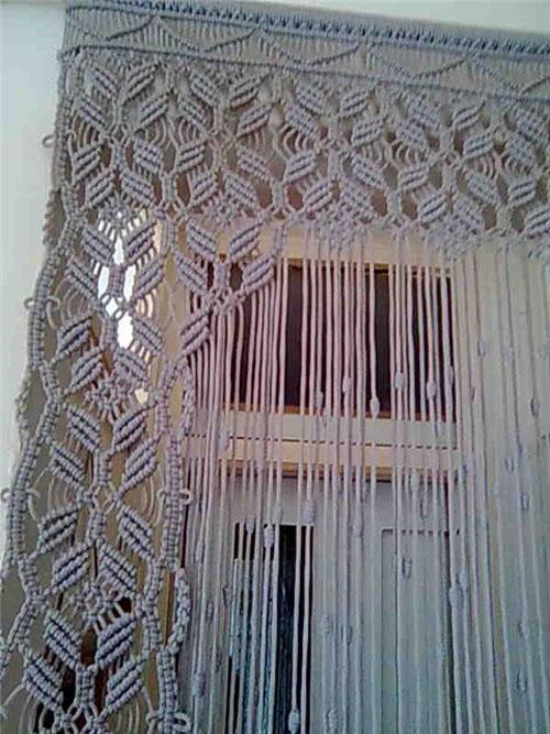 макраме штора. макраме штора от Шуламит.