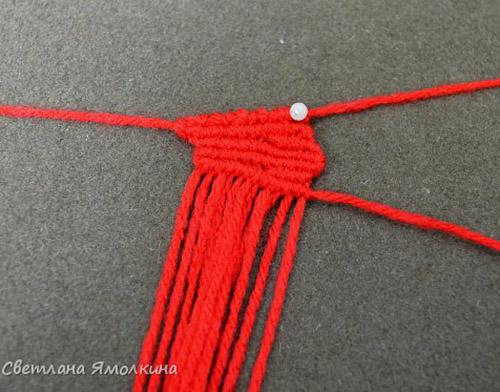 мастер класс Мак плетение