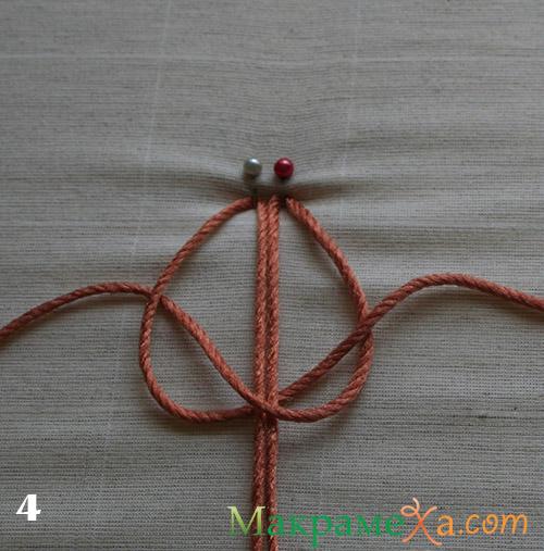 правый плоский узел