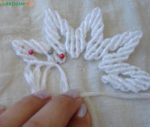 макрамеха, макраме, мастер класс, как сплести цветочек макраме, макраме цветы, плетение цветочка дважды два, 2х2