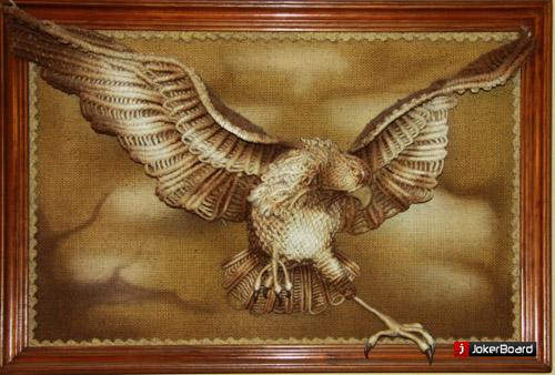 макраме орёл, картина макраме