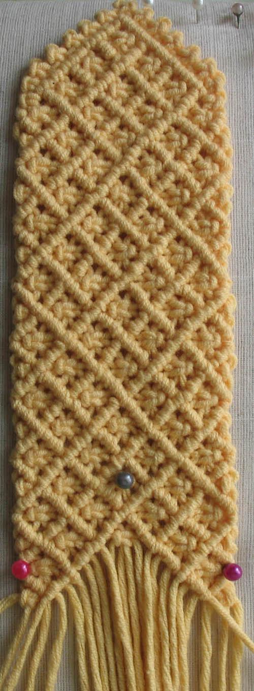 плетение чехла для мобильного