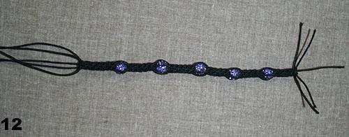 Резинка на основе узел лотос макраме