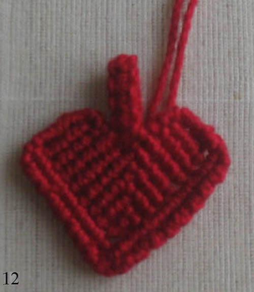 макраме сердце. кулон сердце.