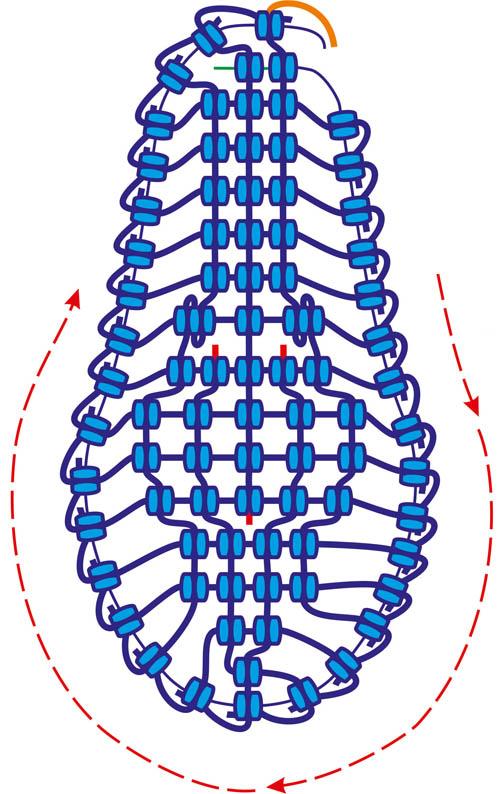 сланцы макраме схема