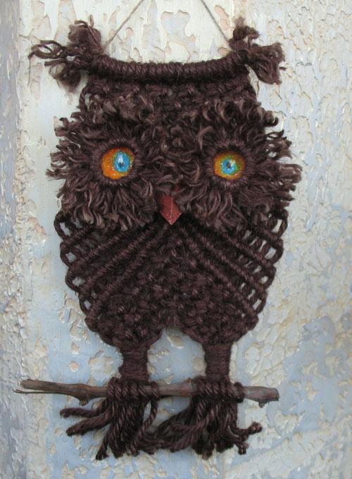 """И небольшой экскурс в сеть за макраме совами.  Макраме сова на английском  """"owl macramé """".  Дайте это задание поисковой..."""