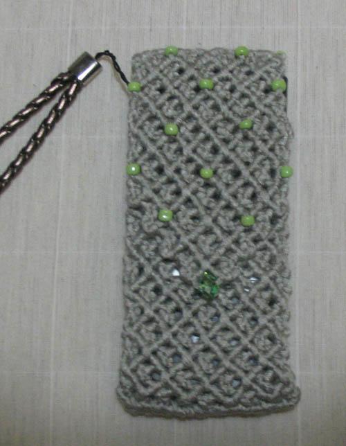 макраме чехол для мобилочки. сумочка для мобилочки.