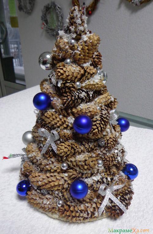 Сделать елку из шишки 3