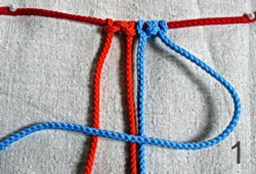 урок макраме, квадратный узел, плоский узел