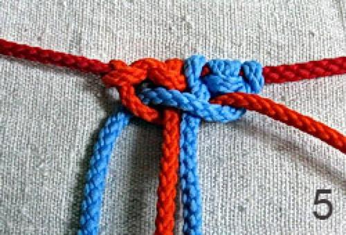 урок макраме, квадратный узел,