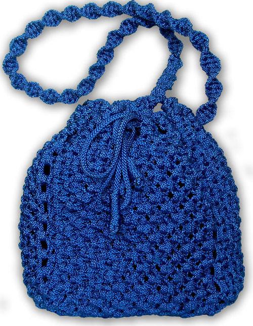"""""""Из синевы """" плетёная сумочка, макраме, Жеглова Юлия."""