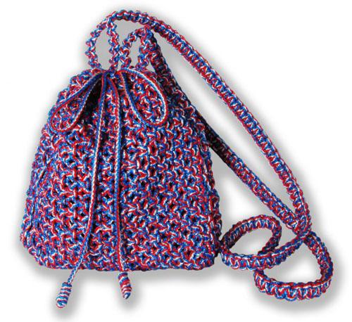 Меланжевая сумочка, макраме, Жеглова Юлия.