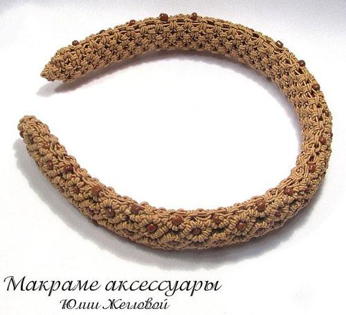 Плетеный ободок